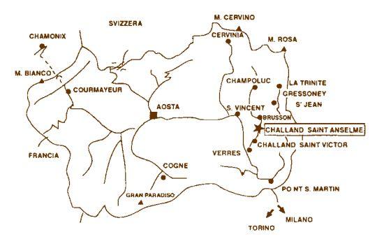 Cartina Muta Della Valle D Aosta.Dove Siamo